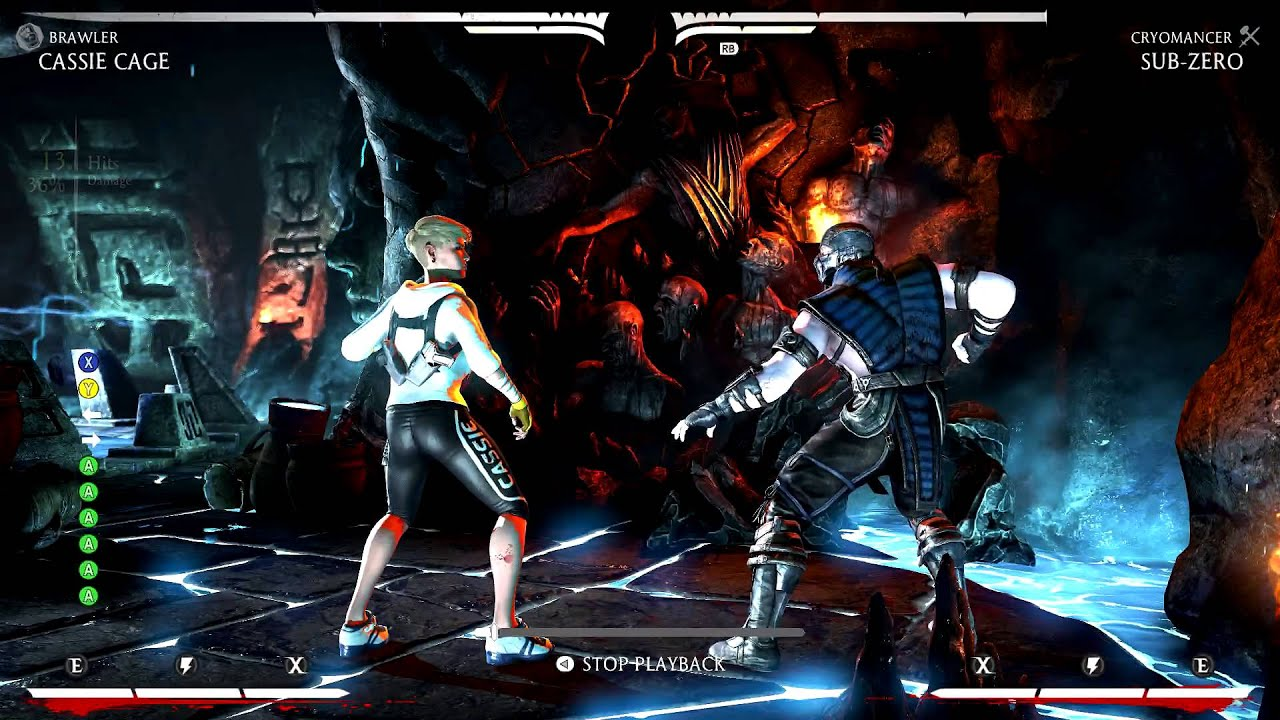 Cassie Cage Brawler Combos Cassis Cage Brawler Mid And