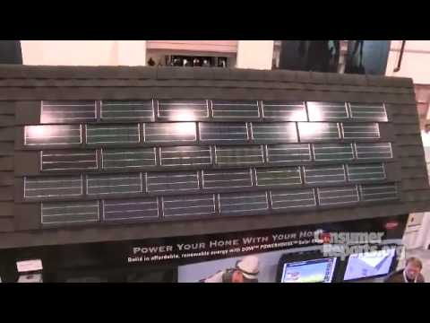 Solar Roof Shingles: 2010 International Builders Show