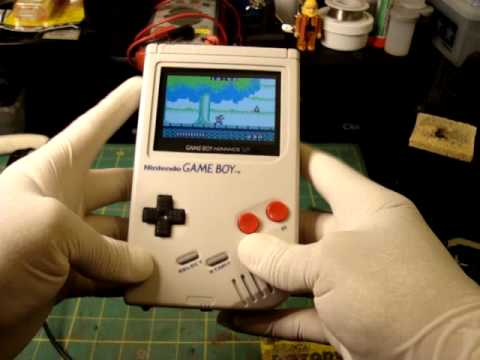 Modified original Gameboy with the guts of a Gameboy SP-