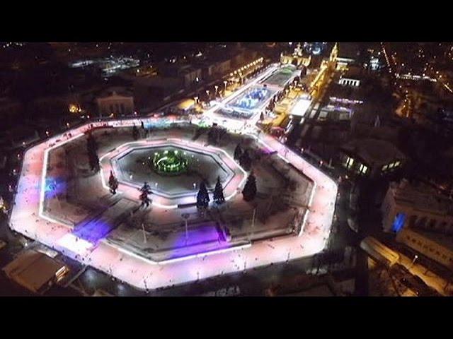 Maior pista de gelo da Europa é russa