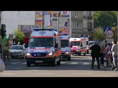 50 karetek na sygnale 50 ambulances responding Parada karetek ulicami Raciborza 30.09.2012
