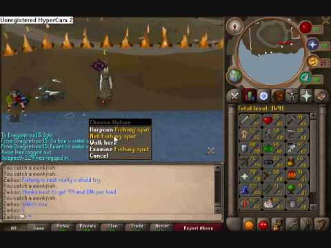Runescape where to fish monkfish and how.
