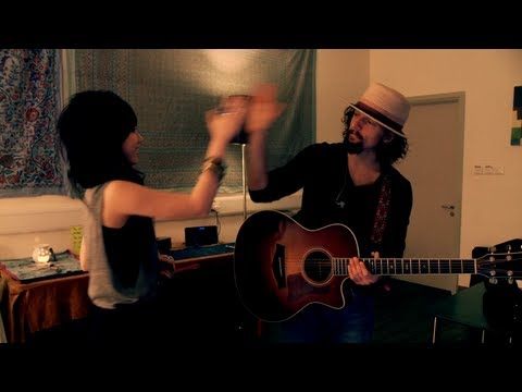 G.e.m. & Jason Mraz Rehearse Lucky (chinese Version)  Itunes Live Hong Kong Backstage video