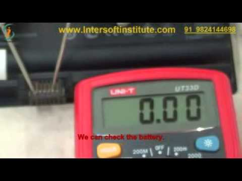 laptop service training moduel 1 demo laptop battery testing process (English)