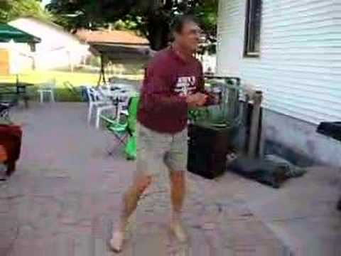 Dad dancing to Eminem