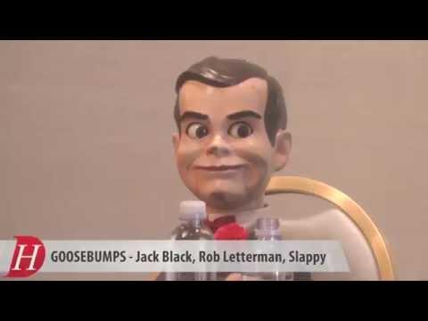 GOOSEBUMPS: Jack Black, Slappy, Director Rob Letterman
