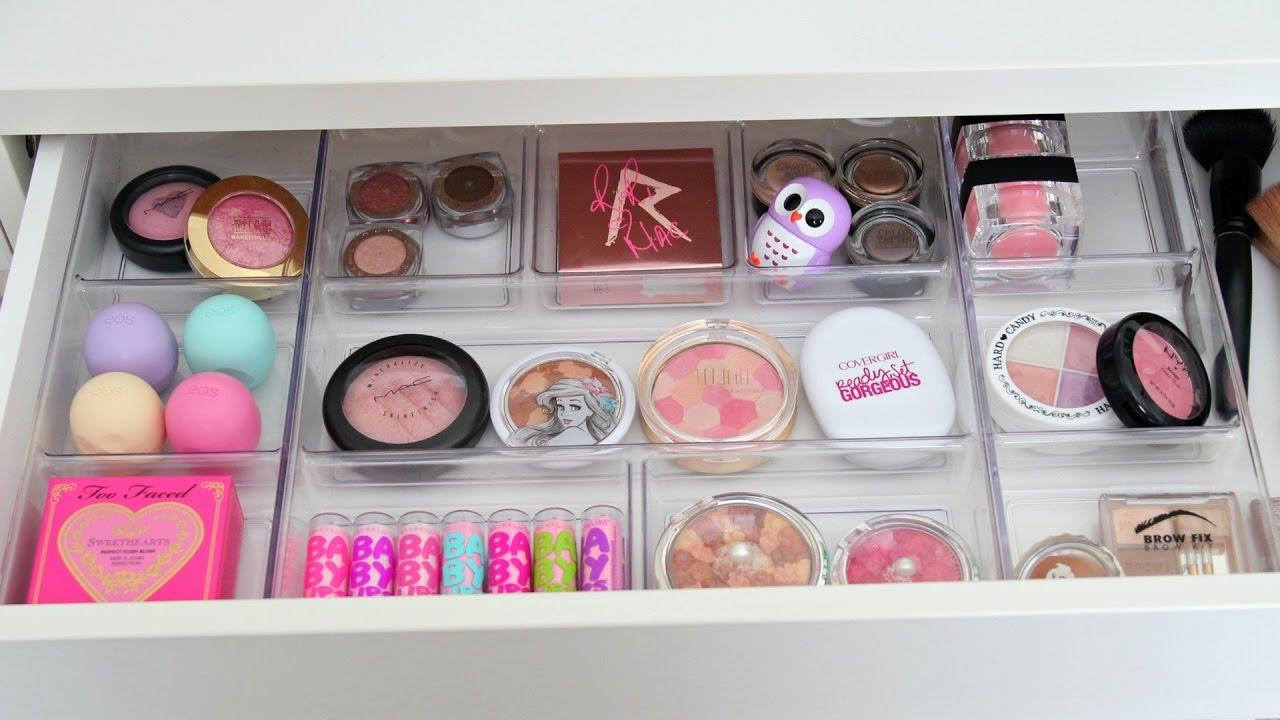 Vanity Makeover Makeup Organization Amp Storage Ideas