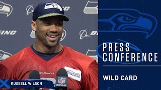 Seahawks Quarterback Russell Wilson Wild Card Press Conference