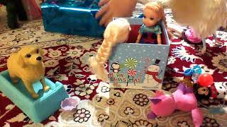 Annia and Elsia on the Christmas day with Newborn puppies- part2