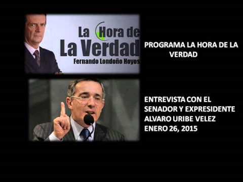 Entrevista con el Senador y Expresidente Alvaro Uribe Vélez - Enero 26/15