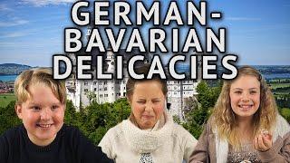 German Kids try German-Bavarian Delicacies
