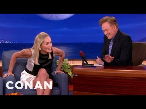 "Sharon Stone Recreates Her ""Basic Instinct"" Leg Cross"