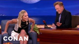 Sharon Stone Recreates Her  Basic Instinct  Leg Cr