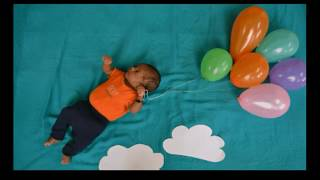 Creating GIF using baby pictures | baby flying off with balloons @ArtistInU