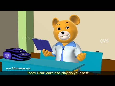 Teddy Bear Song -3d Animation Teddy Bear Nursery Rhyme For Children video