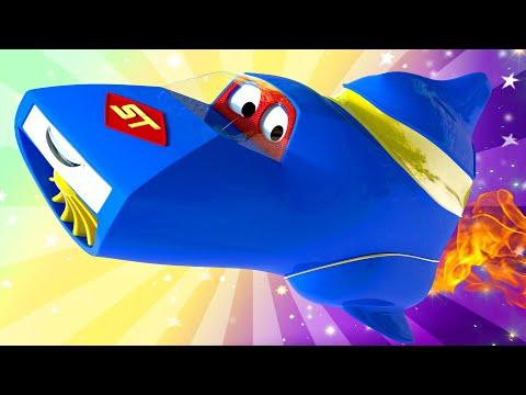 Carl der Super Truck Revival - Sommer Spezial Folge - Urlaub im Weltall - Cartoons für Kinder 🚓 🚒