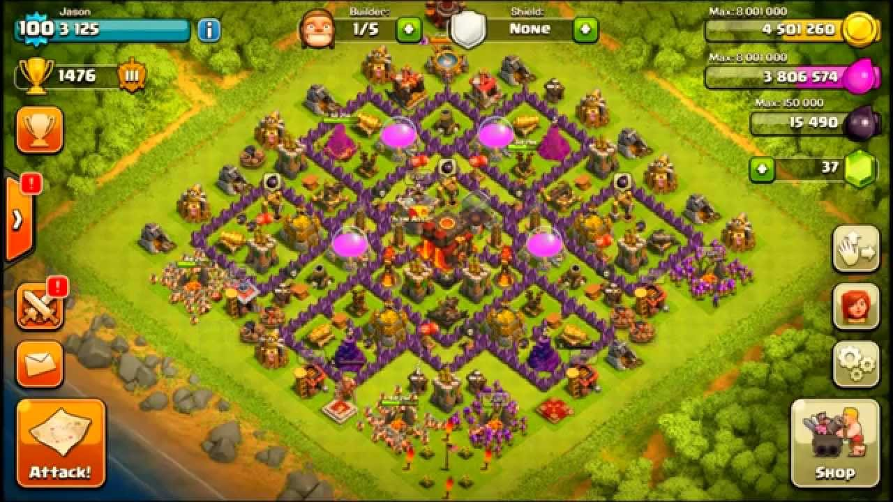 Clash of clans town hall 10 hybrid base layout youtube