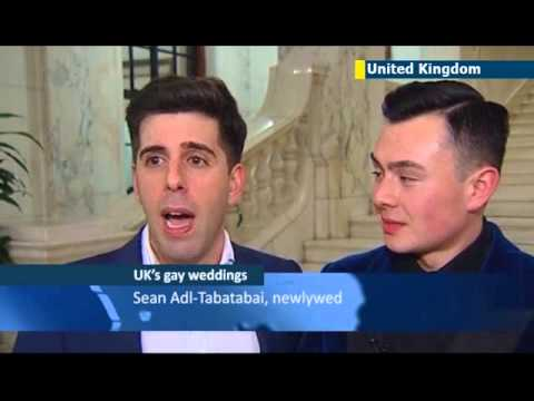 Same Sex Marriage Reaches Uk: Gay Marriage Legalized In England And Wales video
