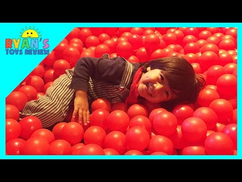 Indoor playground family fun place for kids GIANT BALL PIT Play room with balls Children play Area