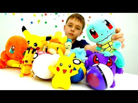 Ловим Покемонов в мире Майнкрафт ! Видео игрушки для мальчиков