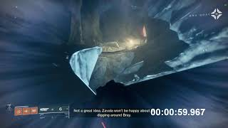 Destiny 2 - Worlds Fastest Mission - Ice and Shadow Speedrun (1:50)