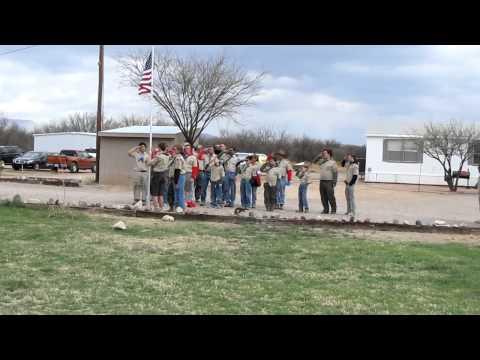 Boy Scouts Raise Flag