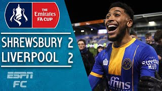 Shrewsbury shock Liverpool to force 4th-round replay | FA Cup Highlights