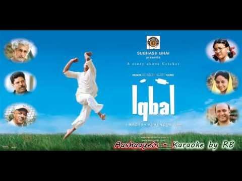 Aashayein || Iqbal || Karaoke || with lyrics RB