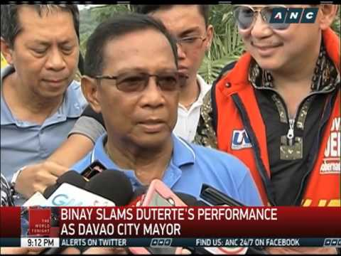 Binay dares Duterte to answer 'millions in bank account' allegations