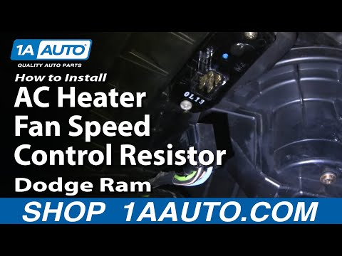 How To Install Repair Replace AC Heater Fan Speed Control Resistor Dodge Ram 02-
