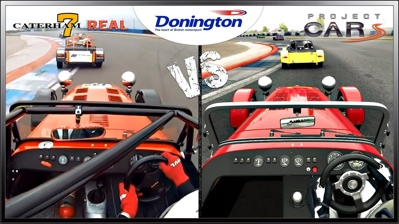 project cars vs real life caterham 7 race donington. Black Bedroom Furniture Sets. Home Design Ideas
