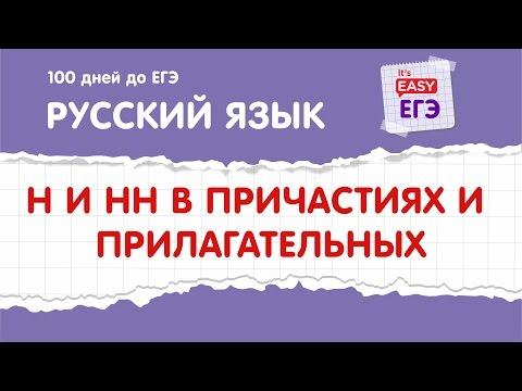 ЕГЭ по русскому языку. Н и НН в прилагательных и причастиях