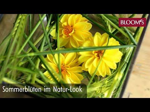 DIY: Sommerblüten Geschickt Gesteckt Im Natur-Look