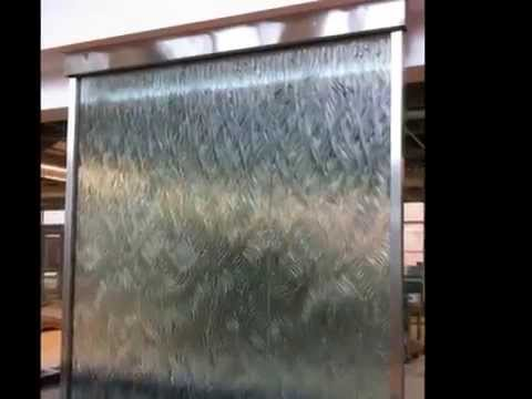 Custom Glass Water Wall Indoor Waterfall Amazing Indoor