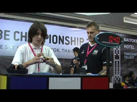 Michal Pleskowicz 8.65 average and Feliks Zemdegs 9.58 average Rubiks cube World Championships 2011