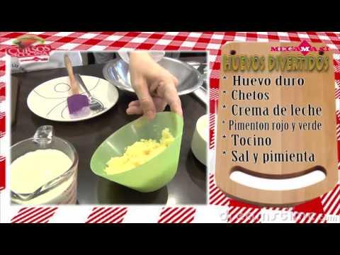 Dippas rellenas con pollo y Huevos divertidos- Cursos de Cocina Megamaxi