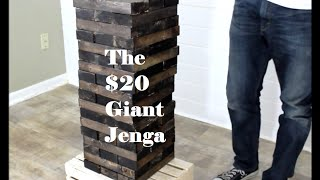 Make your own $20 Giant Jenga! - Easy DIY Project
