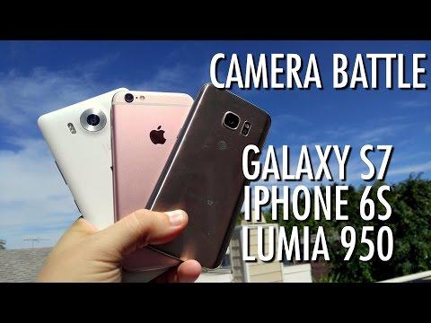 Galaxy S7 vs iPhone 6S vs Lumia 950 - Camera Battle!