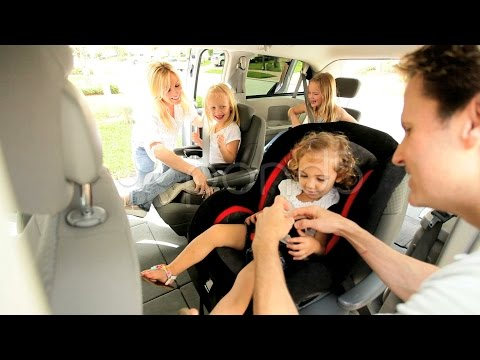 Young Caucasian Family In Car Preparing Trip. Stock Footage