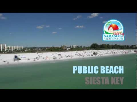 Siesta Key Beaches - Aerial Video Of Siesta Key Public, Crescent & Turtle Beach