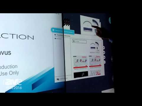 ISE 2016: MultiTaction Shows the MT Canvus Meeting System