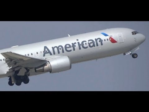 American Airlines (New Livery) Boeing 767-300ER Takeoff / O'Hare International Airport Planespotting