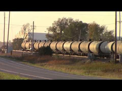 Union Pacific ethanol train leaving Boone Iowa railyard