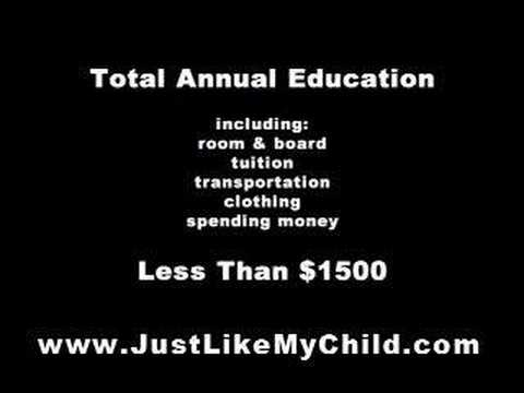 www.JustLikeMyChild.org sends girls to school in Uganda, Africa
