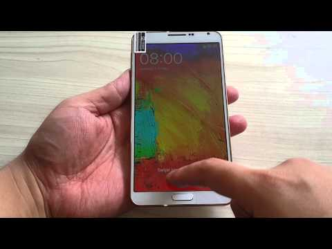 Golden No.1 N3 SmartPhone Samsung galaxy note 3 clone Video Test video review