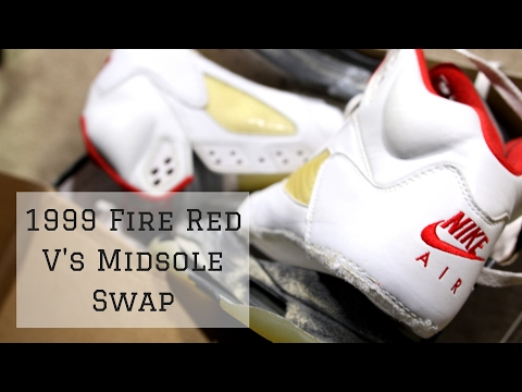 Complete 1999 Fire Red V's Midsole Swap   Shoemabat Restorations