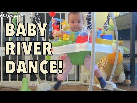 FUNNY BABY RIVER DANCE! - September 18, 2014 - itsjudyslife daily vlog
