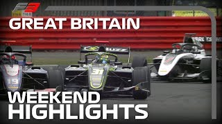 Formula 3 Round 4 Highlights | 2019 British Grand Prix
