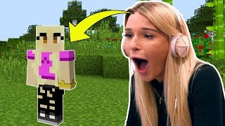 MY FRIEND HALEY IS REPLACING JEN IN MINECRAFT?!?