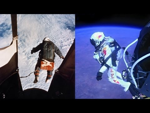 The Red The White and The Blue - The Balloonist (Joseph Kittinger 1960 vs Felix Baumgartner 2012)